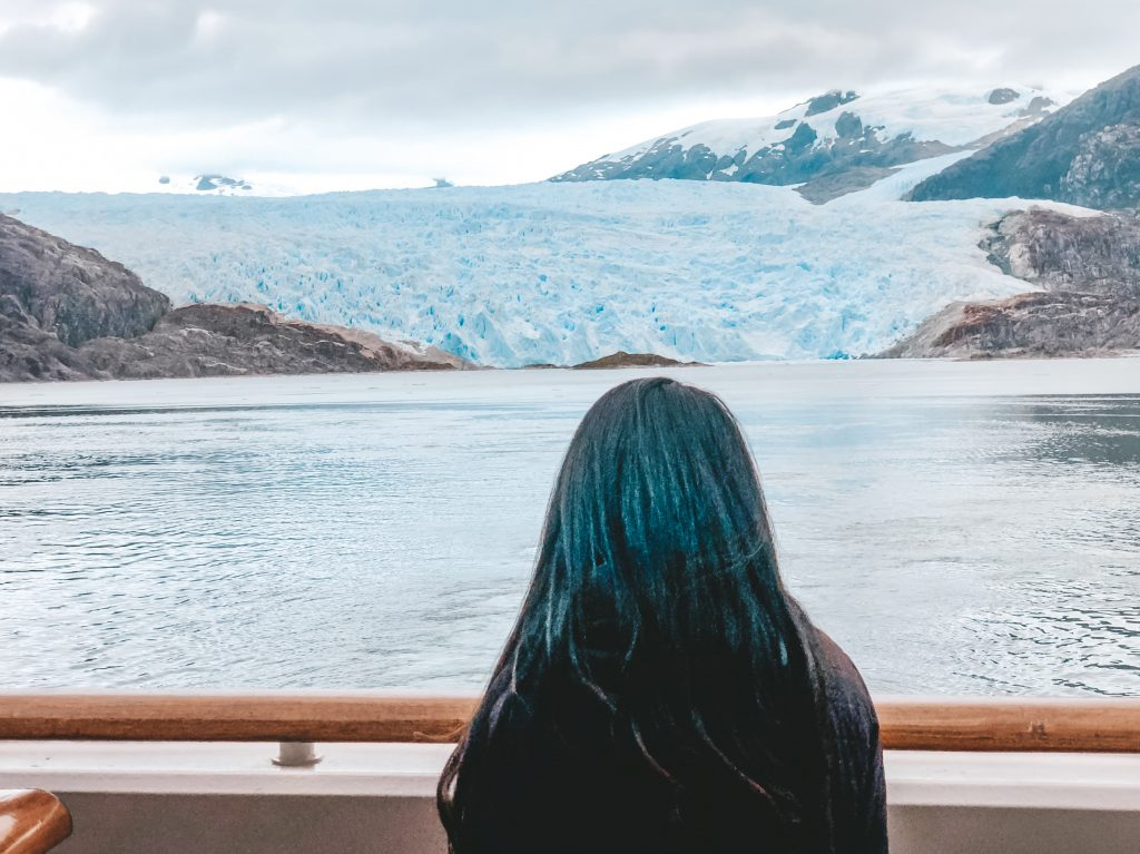 Me looking at the Brujo Glacier in Chile