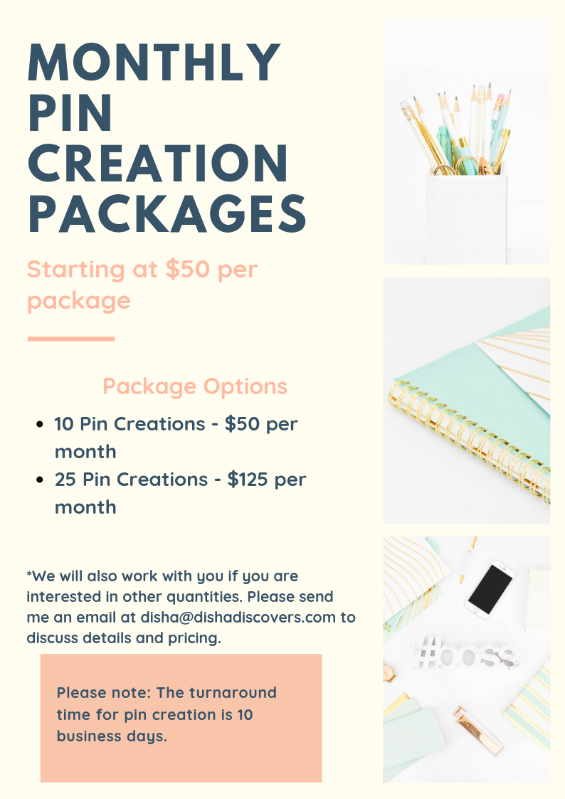 Monthly Pin Creation Packages Revised