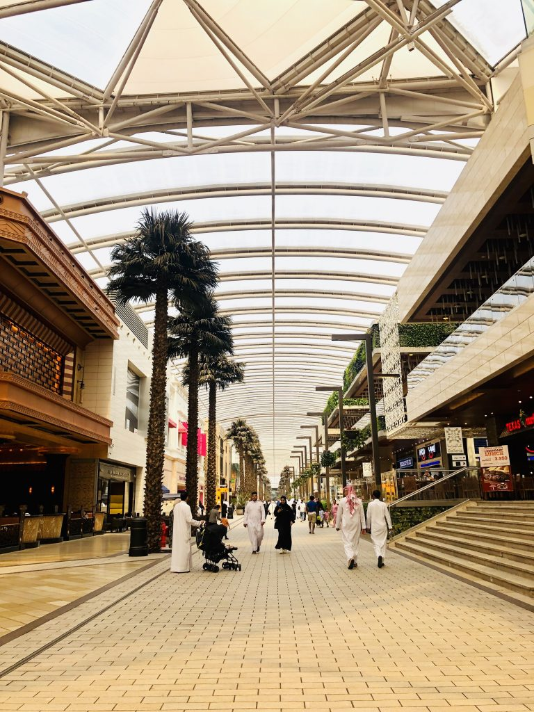 a photo of the inside of avenues mall