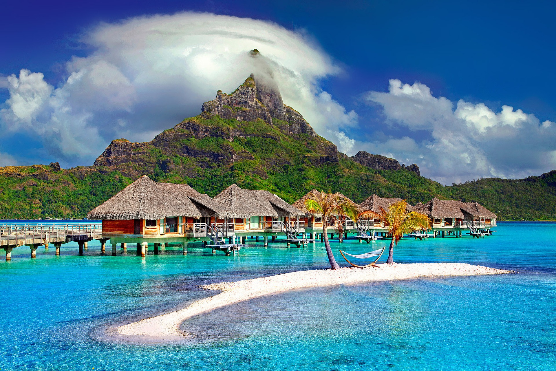 Featured photo for this post - a photo of a bungalow in Bora Bora