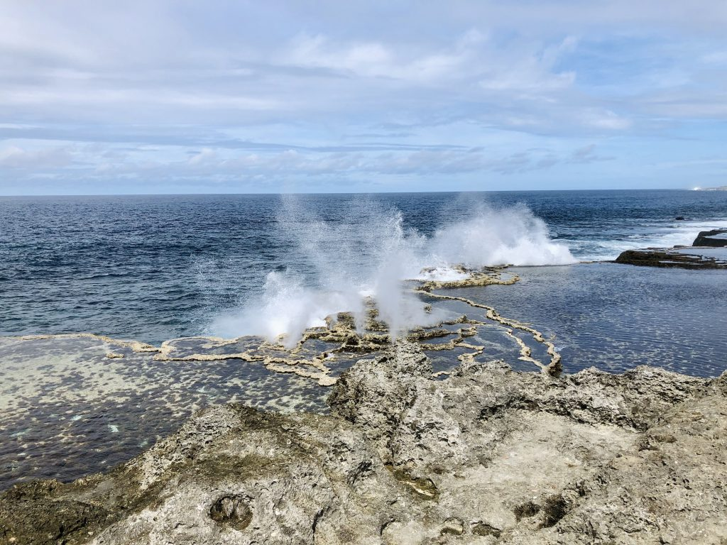 A photo of the blowholes in Nuku'alofa.
