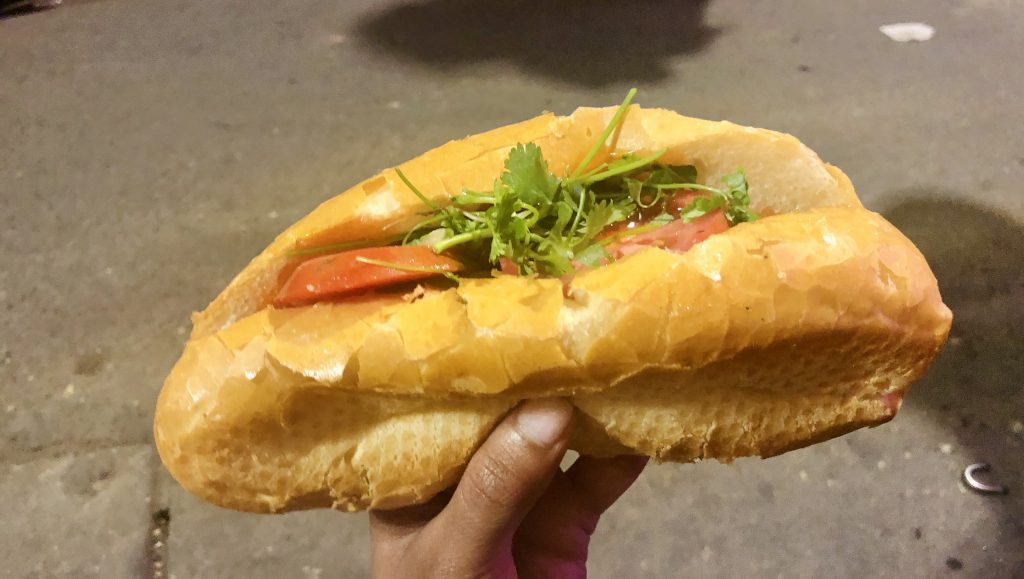 A photo of Bánh mì that I had in Vietnam