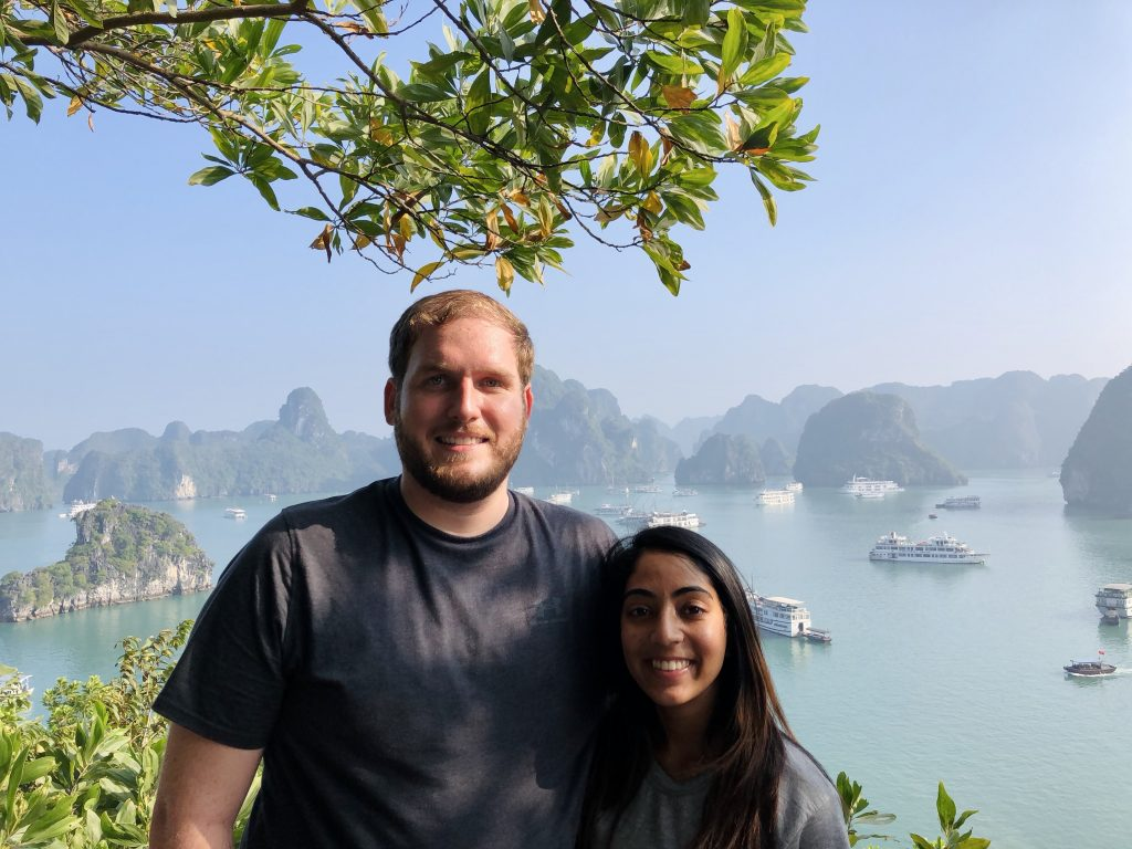 A photo of us at Halong Bay