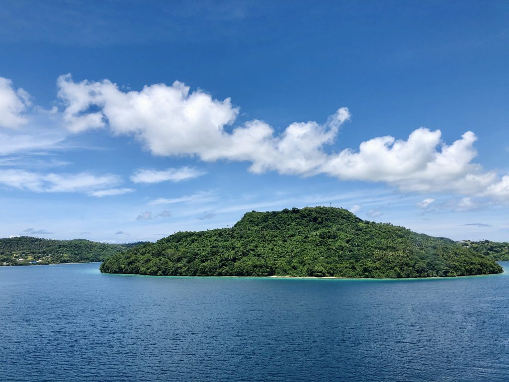 a photo of an island in tonga