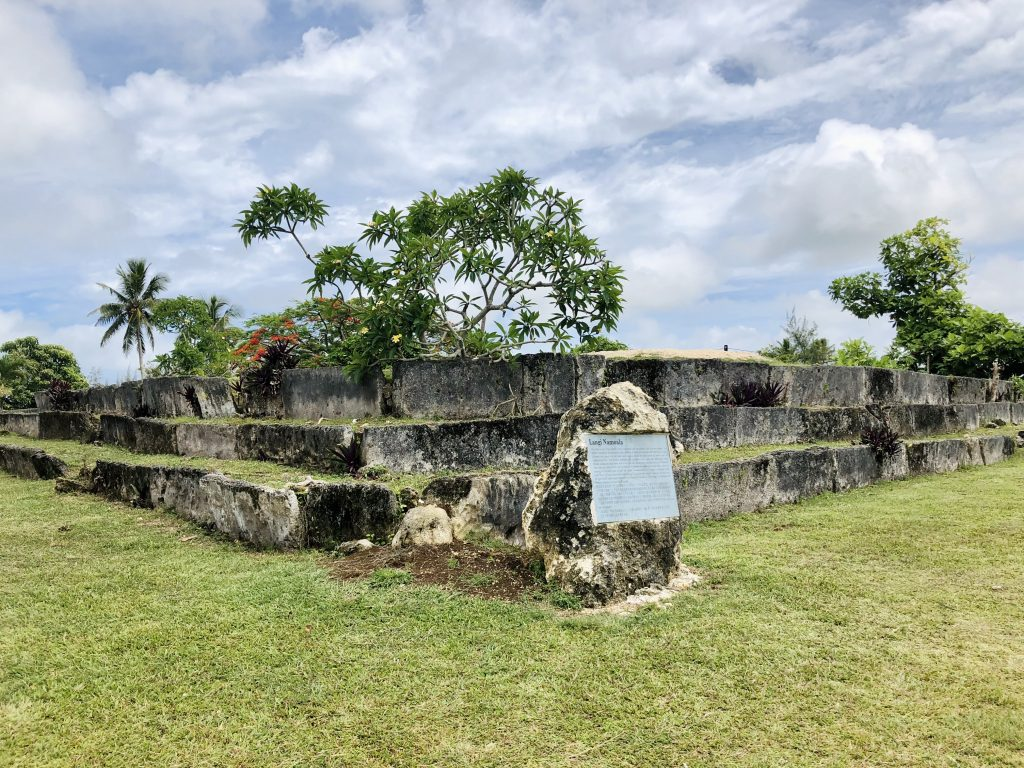 A photo of an ancient burial ground in Nuku'alofa.