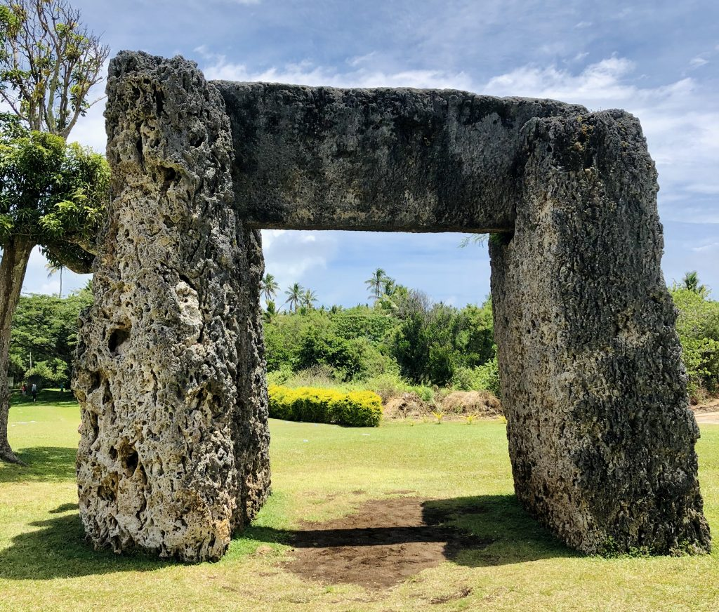 A photo of Stonehenge in Nuku'alofa.