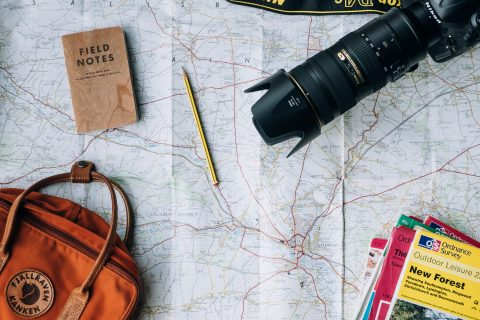 featured image for post - a photo of map and camera