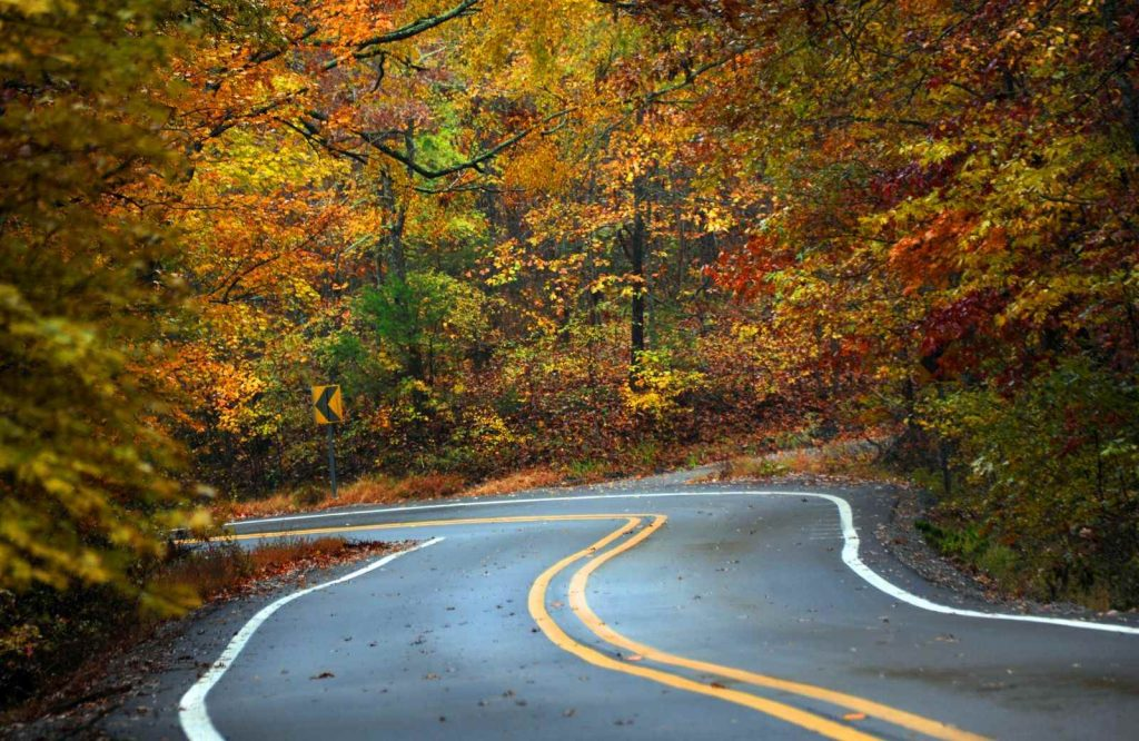The Ozark Mountains a great USA fall trip.