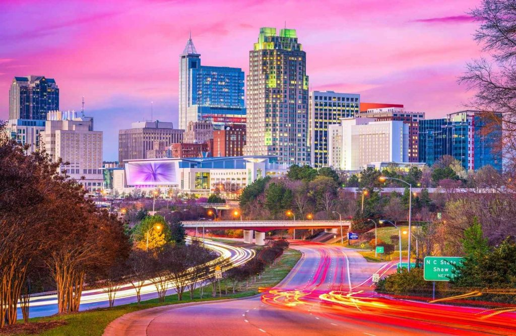 An awesome USA weekend trip is Raleigh.