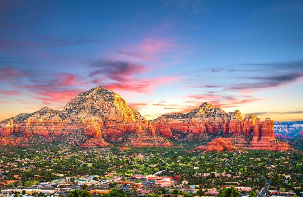 An exciting USA weekend getaway is Sedona, Arizona.