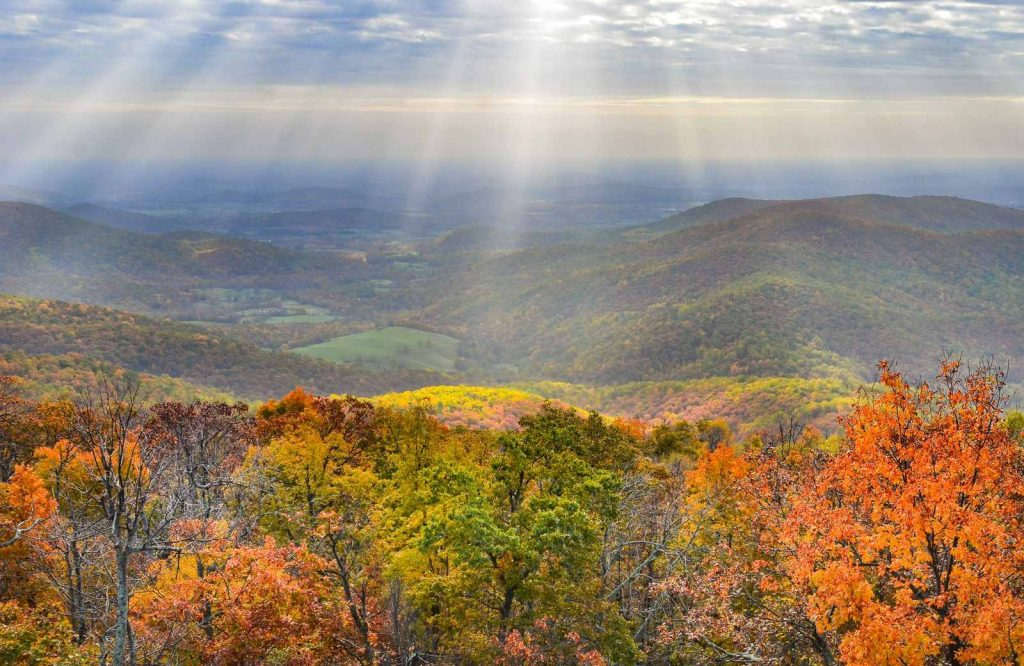 A fan favorite USA fall trip is Shenandoah National Park.