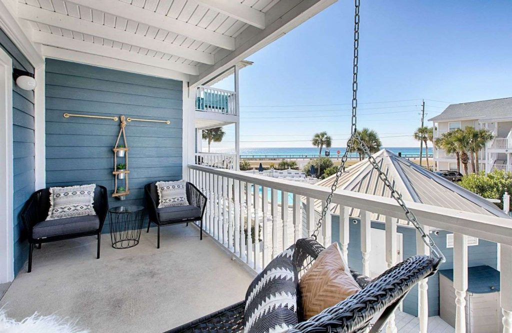 One of the most amazing Airbnbs in Destin is this Bohemian Beach Bungalow.
