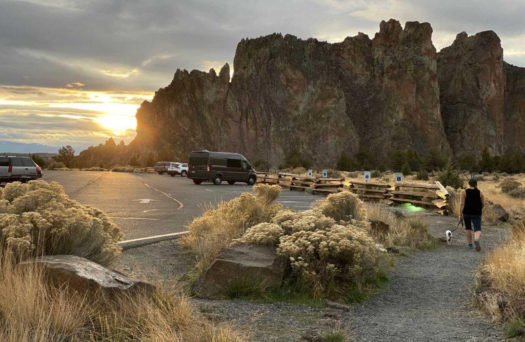 A unique place to visit in Oregon is Bend.