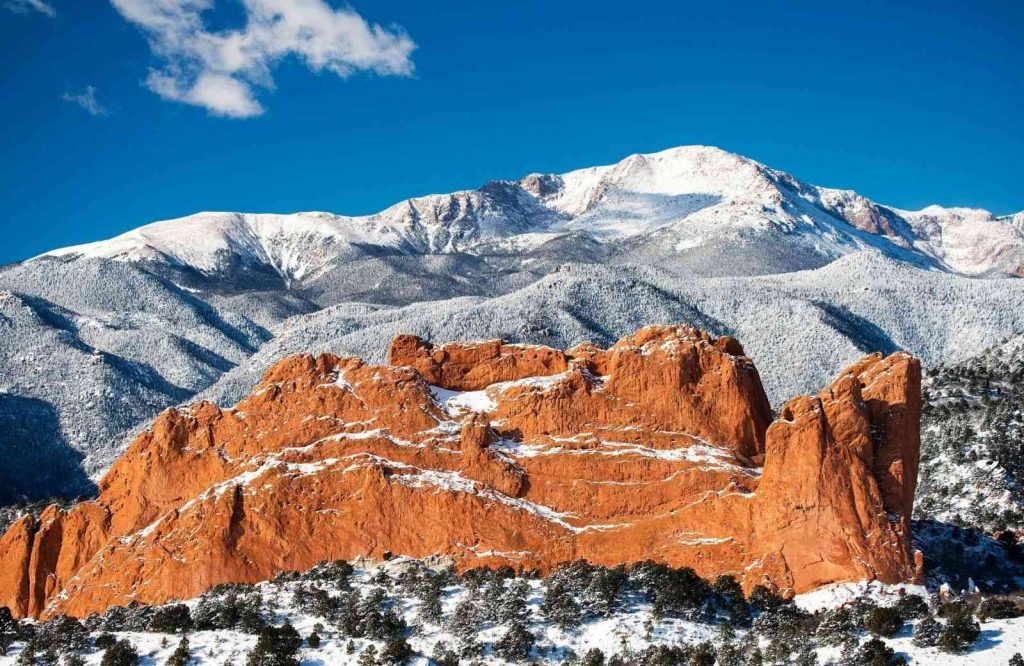 Colorado Springs makes it on the list of best winter getaways in Colorado.