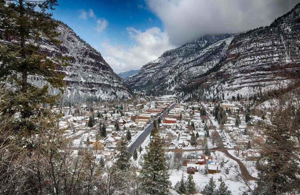 Ouray is one of the best winter getaways in Colorado.