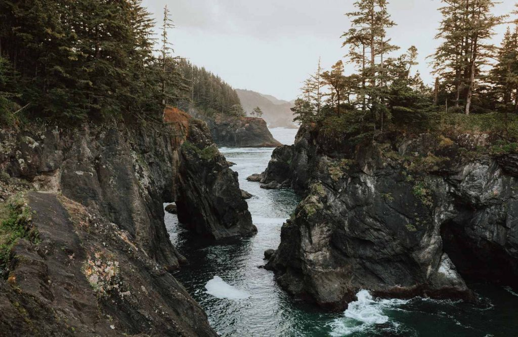 One of the most unique places to visit in Oregon is the Samuel H. Boardman Scenic Corridor.