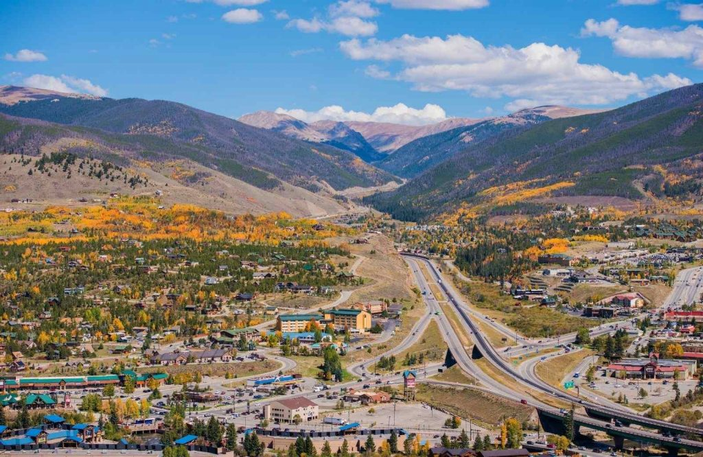 Silverthorne is one of the best winter towns in Colorado.