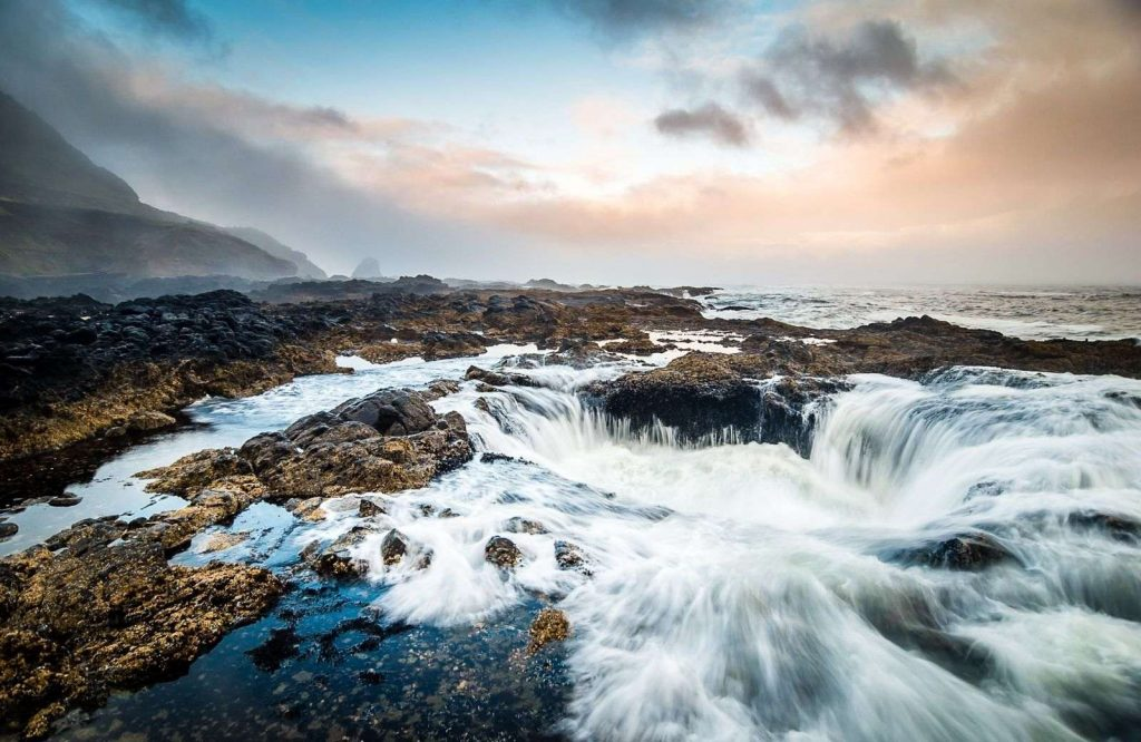 Thor's Well is another unique place to visit in Oregon.