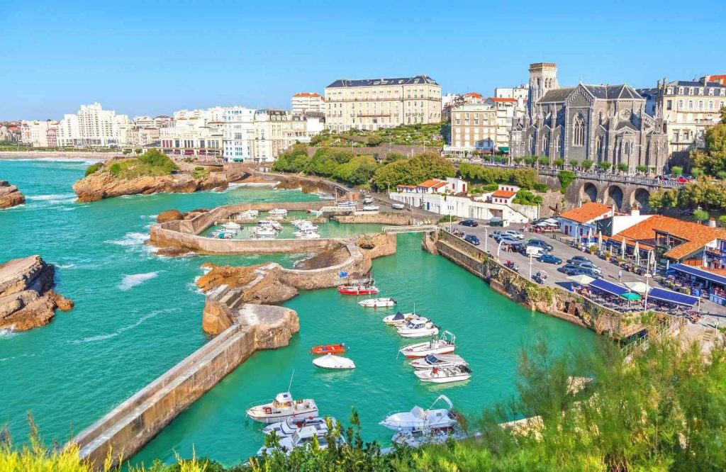 One of the best coastal towns in France is Biarritz.