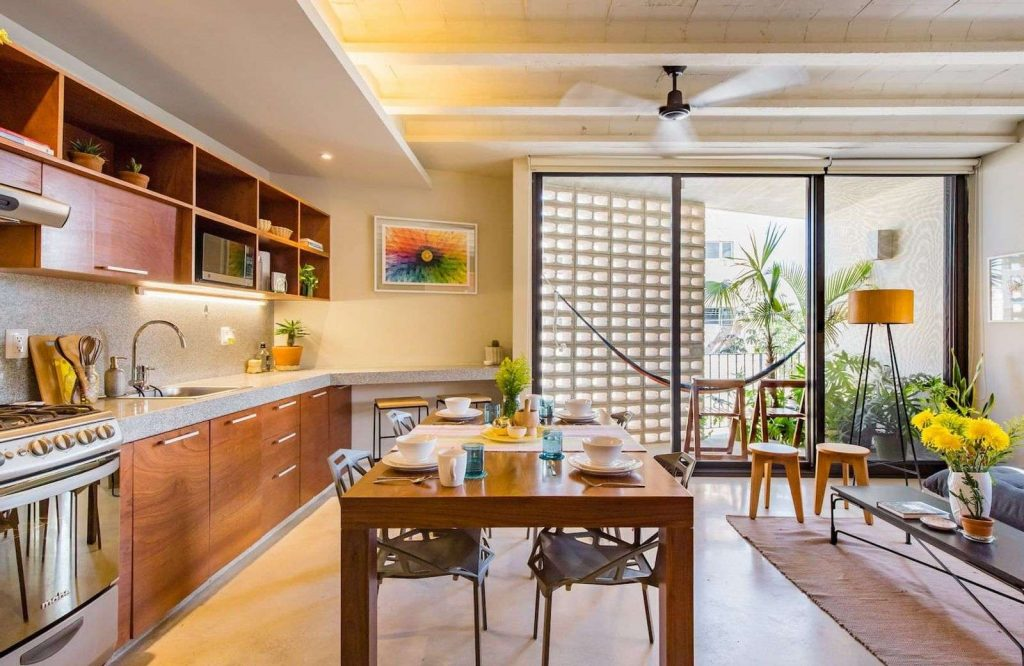 This unique designer home is one of the best Airbnbs in Cancun.