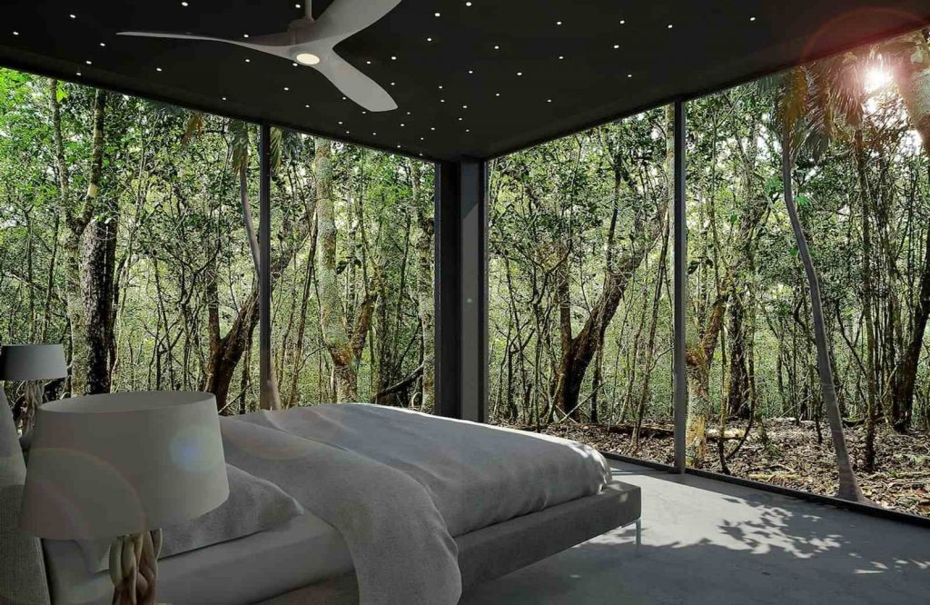 This glasshouse is one of the most unique and best Airbnbs in Cancun.