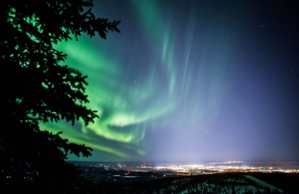 The Northern Lights in Fairbanks is one of the most epic bucket list places to visit in the US.