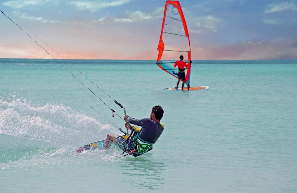 Add windsurfing to your list of fun things to do in Aruba.