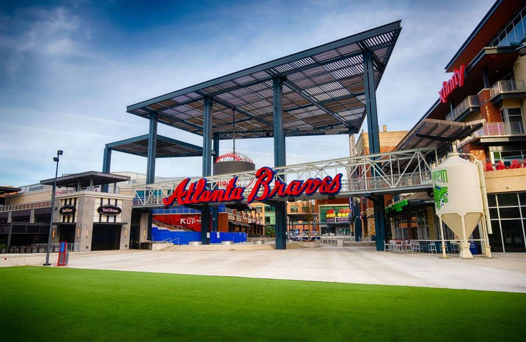 If you're looking for fun things to do in Atlanta for couples, go watch an Atlanta Braves game.