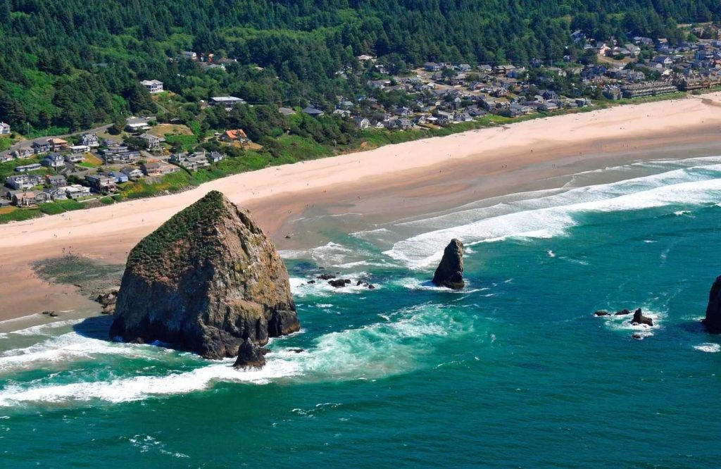 Cannon Beach is one of the most picturesque and best beaches in the USA.