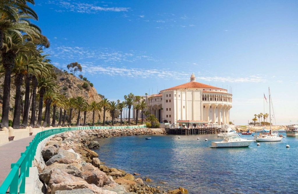 Catalina Island is one of several beach towns in California.