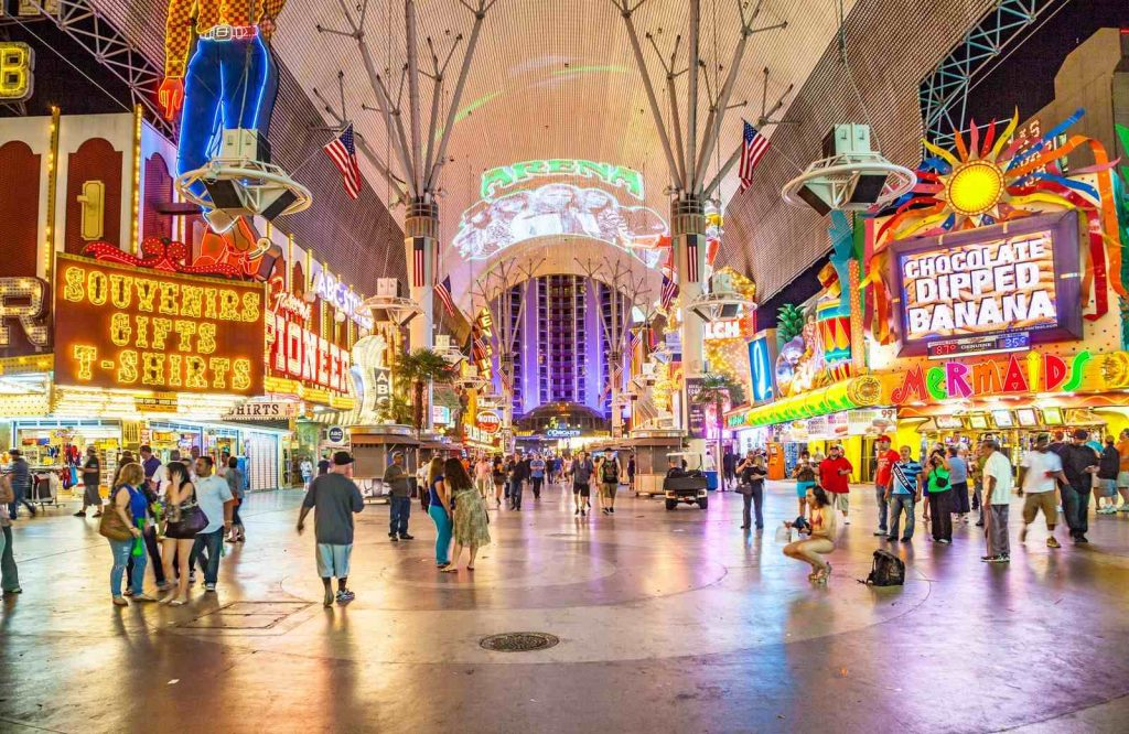 Add Fremont Street to your list of free things to do in Vegas.