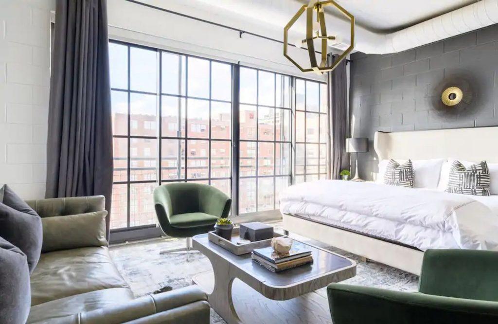 The Jade Loft is one of the most elegant Airbnbs in Atlanta.