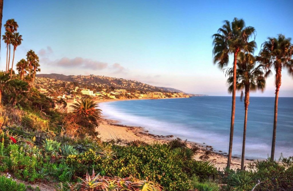 One of the best beach towns in California is Laguna Beach.