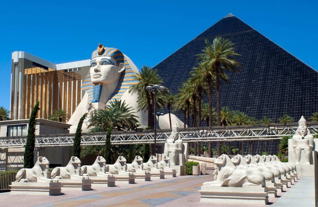 Exploring the Luxor Hotel is one of many fun and free things to do in Vegas.