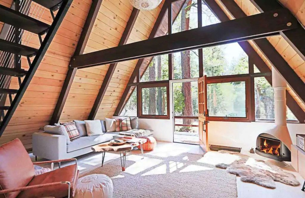 This modern cabin is one of many Airbnbs in Lake Tahoe.