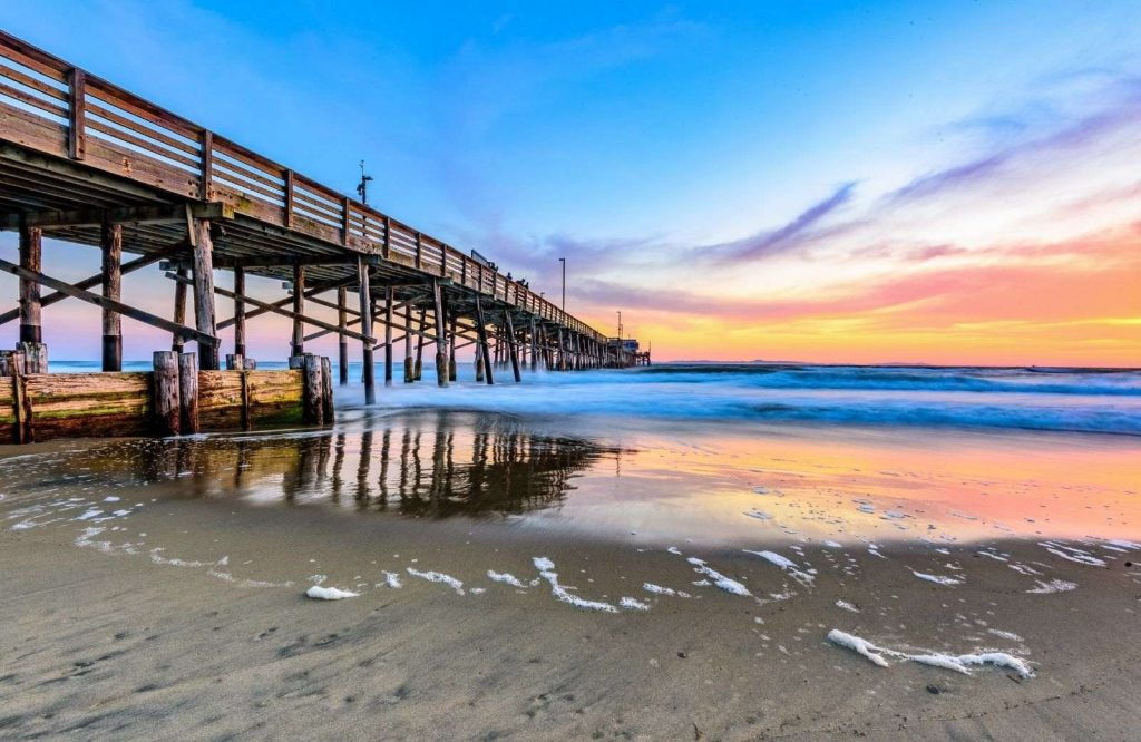 One of the best beach towns in California is Newport Beach.