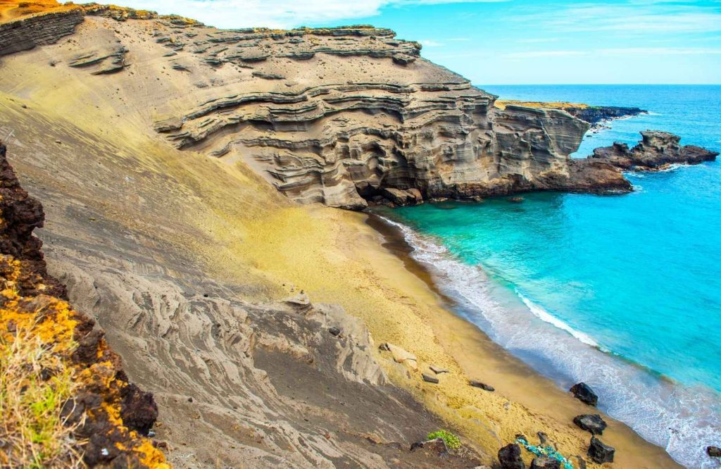 Papakolea Beach makes it on the list of the best beaches in the USA.
