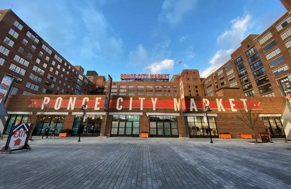 Hanging out at Ponce City Market is one of many romantic dates in Atlanta.