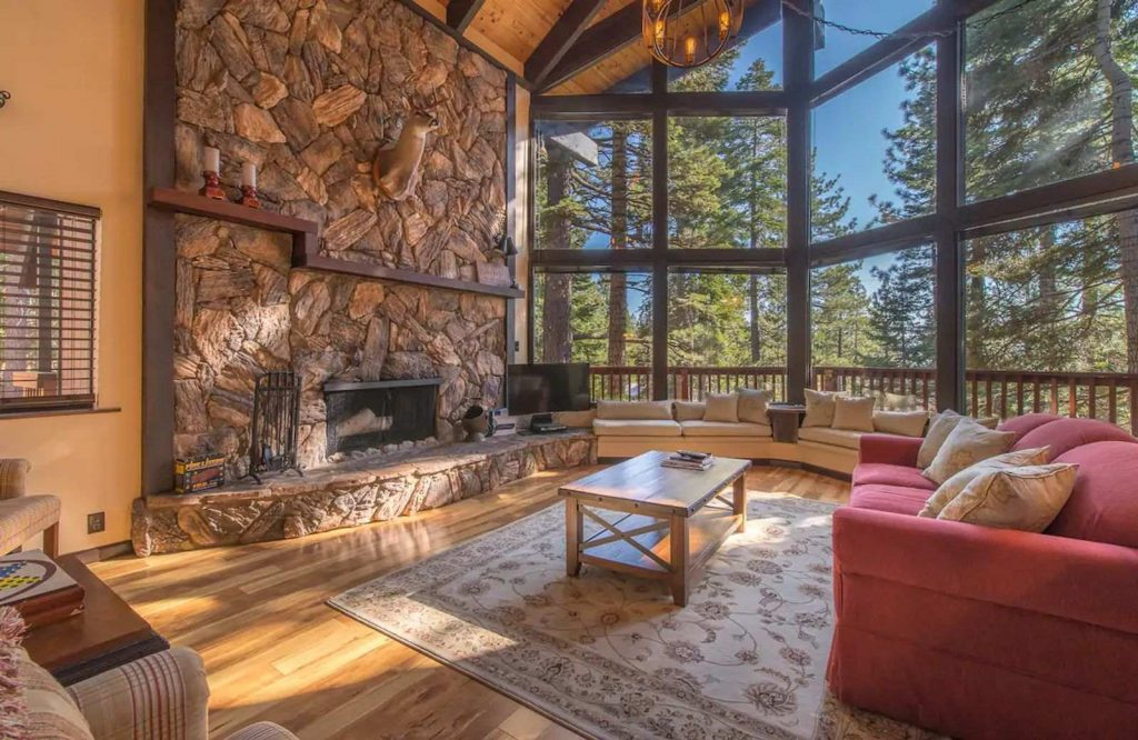 This rustic home is one of the prettiest Airbnbs in Lake Tahoe.