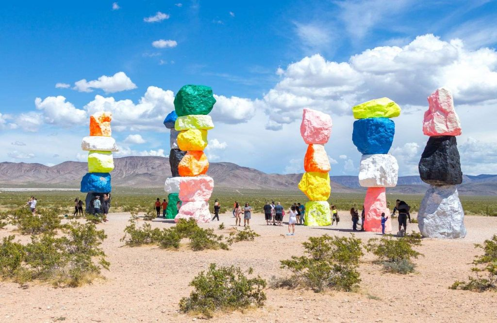 If you're looking for free things to do in Vegas, check out Seven Magic Mountains!