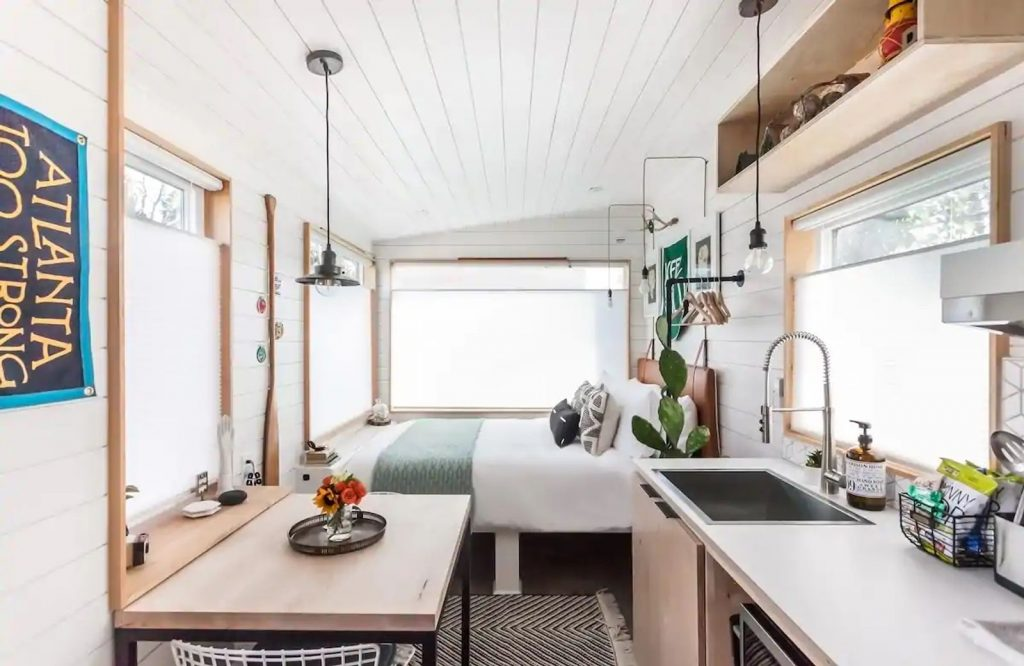 If you're looking for the best Airbnbs in Atlanta, be sure to check out this tiny house.
