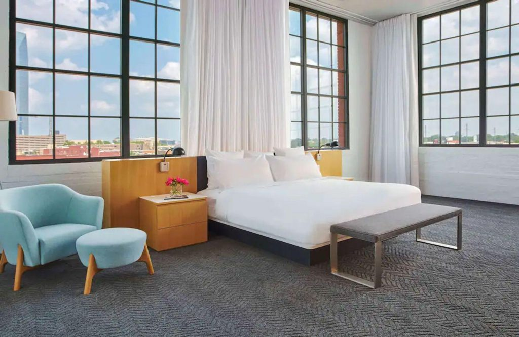 21c Museum Hotel in Oklahoma City is one of the coolest romantic getaways in Oklahoma.