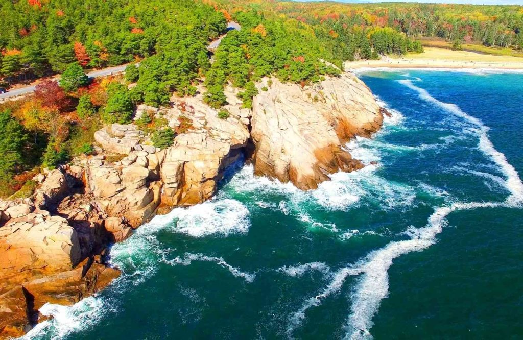 One of the most adventurous romantic getaways in New England is Acadia National Park.