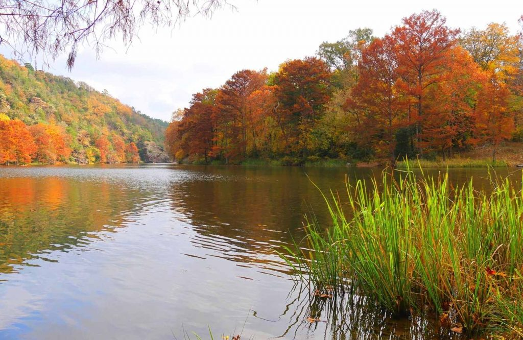 If you're looking for nature day trips from Dallas, check out Beavers Bend State Park.