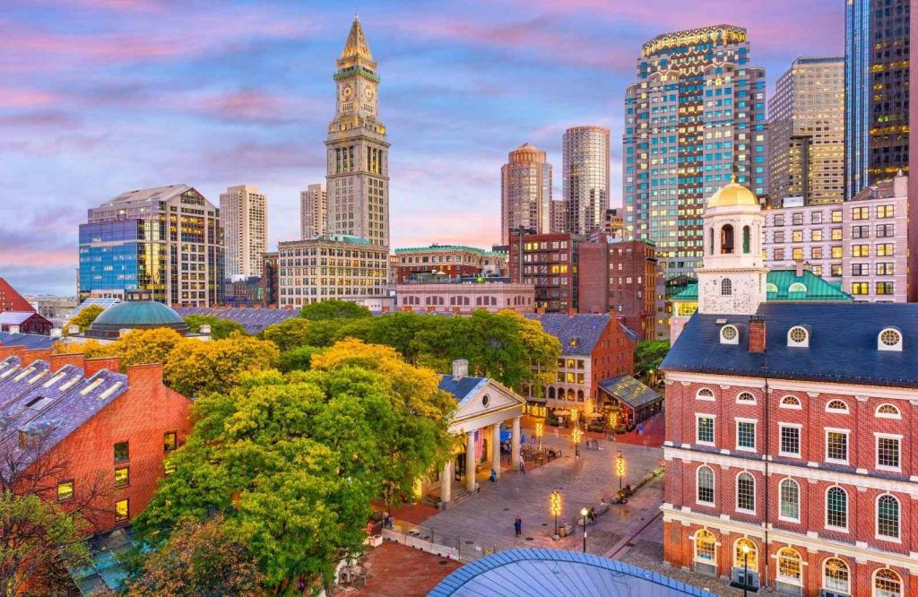 Boston is one of many romantic getaways in New England.
