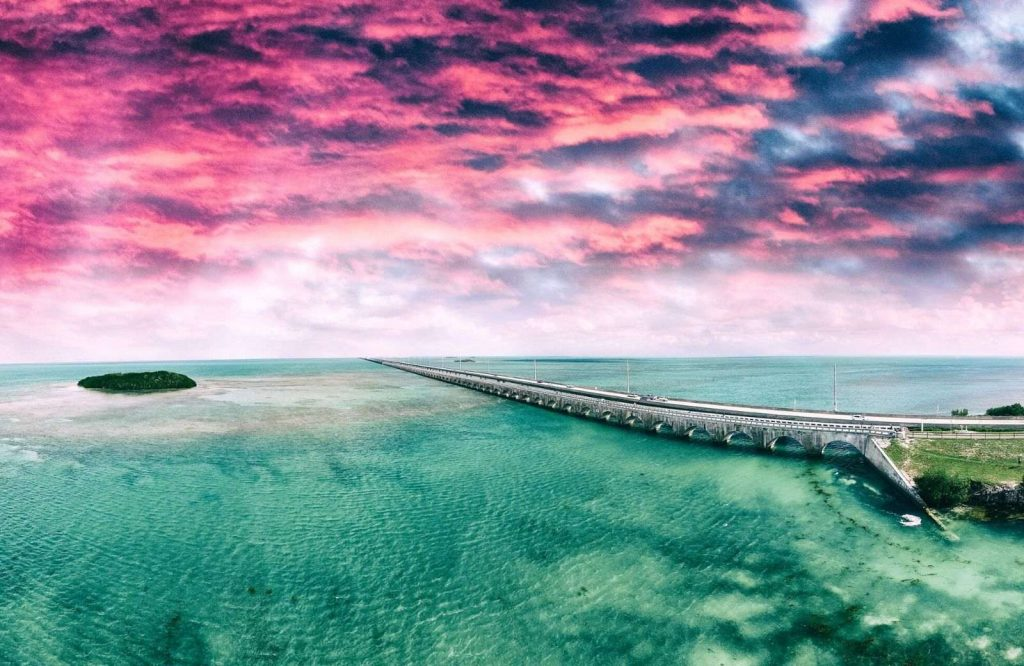 The coolest islands in the USA are the Florida Keys.