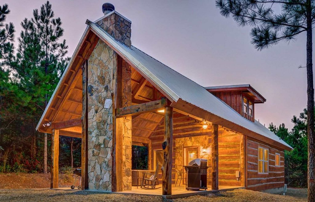 One of the most romantic getaways in Oklahoma is the Hidden Hills Cabins in Broken Bow.