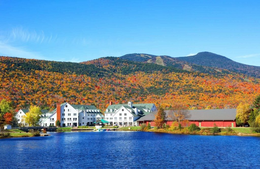 One of the most romantic getaways in New England is Waterville Valley, New Hampshire.