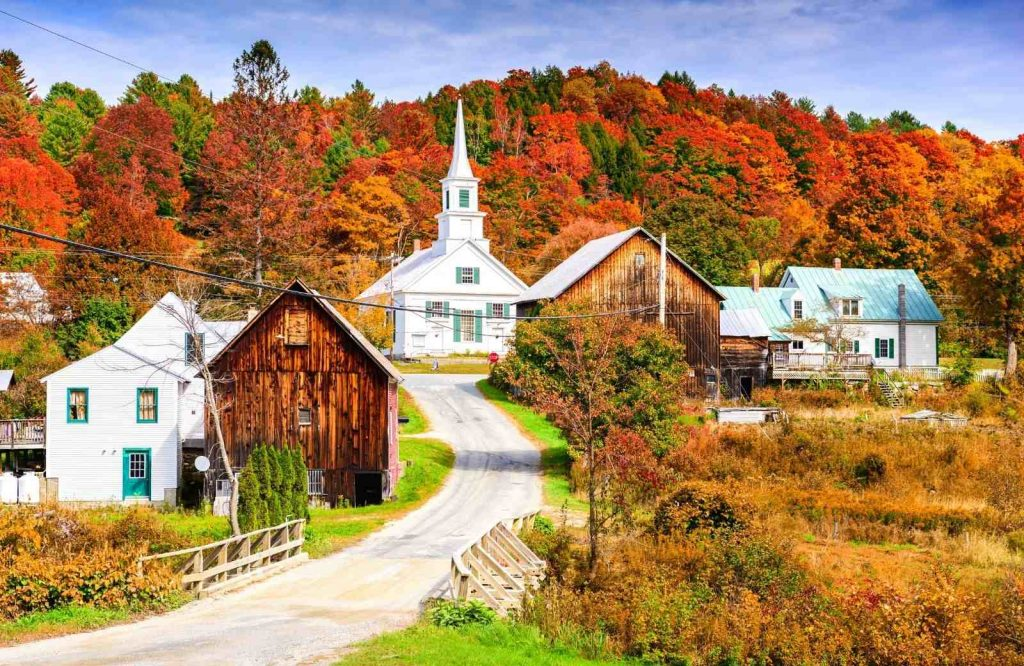 To start your Vermont road trip, you can fly there or road trip there.
