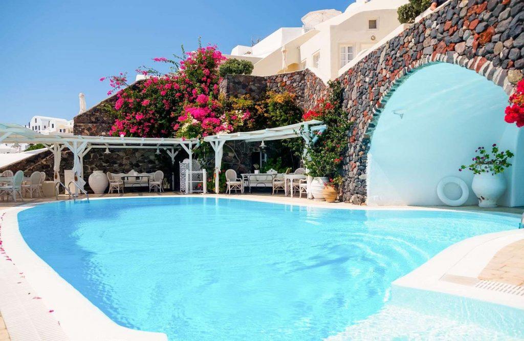 If you're deciding between Santorini or Mykonos, Santorini has the infamous cave hotels.